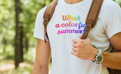 Impression multicolore sur t-shirt